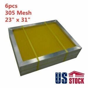 6 Pack 23 X 31 Aluminum Frame Silk Screen Printing Screens 305 Mesh Us Stock