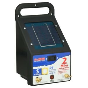 2 Mile Solar Powered Electric Fence Energizer Outdoor