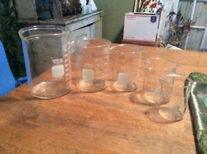 Beakers Graduating Glass Pyrex Beakers 1000 150 Ml