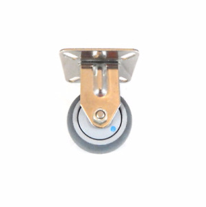 Blickle Rigid Stainless Steel Caster 2 Poly Wheel 60mm Square Plate