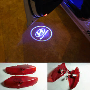 2x Led Door Step Courtesy Laser Projector Ghost Lights For Hyundai Sonata 2015