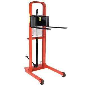 Wesco Straddle Fork Stacker 1000 Lbs Capacity 30 Long Forks 56 Lift Height