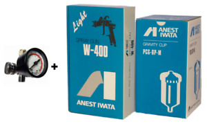 Anest Iwata Air Regulator W 400 134g W400 1 3 Mm Bellaria Spray Gun Cup New