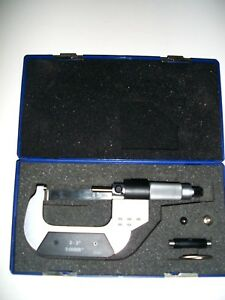 Fowler 2 3 Outside Electronic Ip54 Blade Micrometer