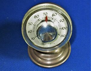 Rare And Unique Honeywell Corporation Sterling Silver Desk Thermometer