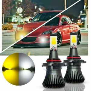 9005 9006 White Yellow Color Cob Led Fog Light Bulbs Fit Isf Rx 8 Forester G37
