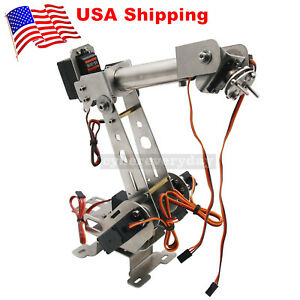 6dof Mechanical Robotic Arm Clamp With Servos Diy Kit For Robot Arduino Us
