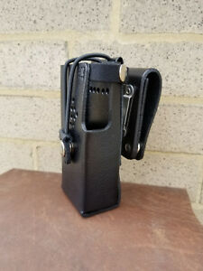 Hytera tm Pd602 Leather Case With Detachable Swivel Belt Loop By Caseguys
