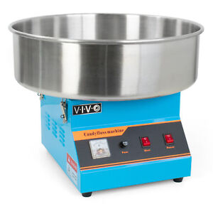 Vivo Blue Electric Commercial Cotton Candy Machine Floss Maker candy v001b