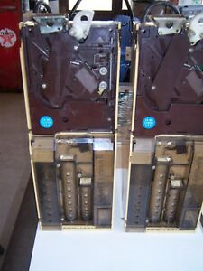 2 National crane Vending Coin Accepters Changers Ap candy Machine