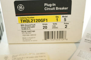 Thql2120gf1 Ge Plug in Circuit Breaker 2 Pole 20 Amp 120 240v new
