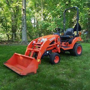 2016 Kubota Bx1870 4wd Utility Garden Tractor Loader Only 76 Hours Deere Ford