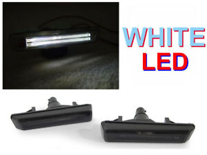 Depo White Led Smoked Smoke Fender Side Marker Lights For 2001 2006 Bmw E46 M3