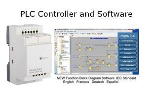Programmable Logic Controller Plc 4 Dc Inputs 4 Relay 12 24vdc Software