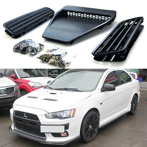Bonnet Hood Scoop Intake Vent Cover Trim For 2008 2015 Lancer Gts Evo 10 X Gsr