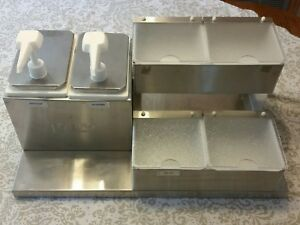 Toppo Stainless Condiment Dispenser Commercial Countertop With Pumps Food Truck