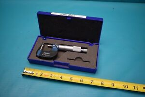 Used Fowler Tube Micrometer 0 1 52 510 601 With Case