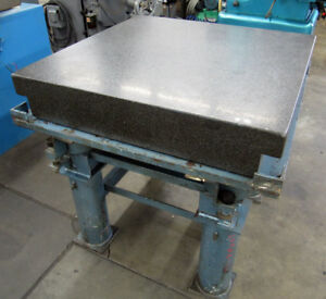 36 x36 Granite Surface Plate Inspection Table 6 thick With Stand
