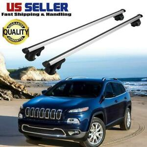 Car Top Roof Rail Rack Cross Bars Cargo Kayak Carrier For Jeep Cherokee 2014 17