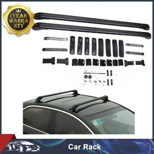 New Aluminum Car Top Luggage Roof Rack Cross Bar Carrier Adjustable Window Frame