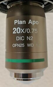 Nikon Cfi Plan Apo Vc 20x Air 0 75na Uv Enhanced Microscope Objective Warranty