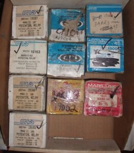 Lot Of 10 Mars Potential Relays