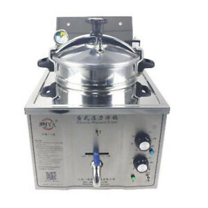 Commercial Electric Pressure Fryer 15l Electric Frying Oven 50 200 c Mdxz 16