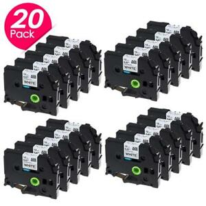 Compatible For Brother P touch 12mm Label Tape Tz 231 Tze 231 Label Maker 20pk