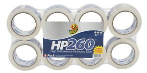 Duck Brand Hp260 Packaging Tape 1 7 8 In X 60 Yd Clear Pack Of 8