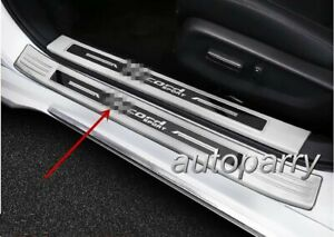 Stainless Door Sill Scuff Plate Cover Outside Silver Fit Honda Accord 2018 2019