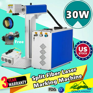 Portable Maxphotonic 20w Fiber Laser Marking And Engraving Machine Ratory Axis