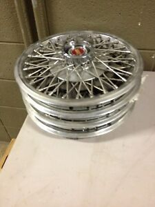 4 13 Wire Wheel Covers Hubcaps 1977 1982 Ford Mustang Granada Pinto Dde23