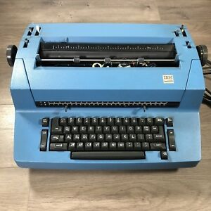 Vintage Ibm Selectric Ii 893 Correcting Typewriter Blue Tested Working Dustcover