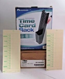 830331 1 Time Cards 500 Ct And Acroprint Expanding Time Card Rack 81 0118 000