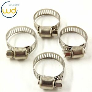 1 2 3 4 Adjustable Stainless Steel Drive Hose Clamps Fuel Line Worm Clip 50pcs