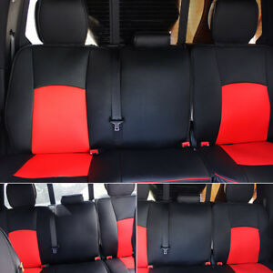 Car Leather Seat Cover Front Rear Full Set For Dodge Ram1500 2500 2009 2017 Us