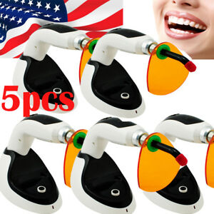 5pcs 2000mw Wireless Cordless Led Dental Curing Light Lamp Teeth Whitening Fda