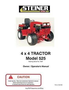 Steiner 4 X 4 Tractor Model 525 Operator s Manual On Cd