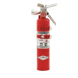 Halotron Fire Extinguisher With 2 5 Lb Capacity And 9 Sec Discharge Time