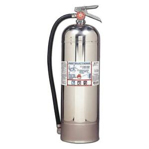 Water Fire Extinguisher With 2 5 Gal Capacity And 55 Sec Discharge Time