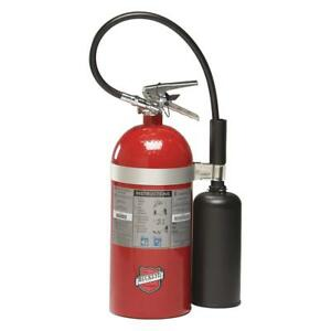 Carbon Dioxide Fire Extinguisher With 10 Lb Capacity And 8 To 10 Sec Discharge