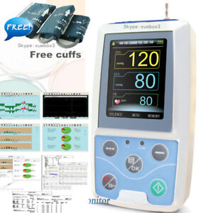 Fda Ce Digital Ambulatory Blood Pressure Monitor Upper Arm 3pcs Bp Cuff software