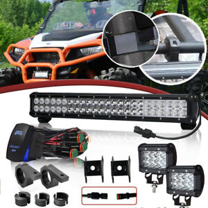 20inch 22 126w Spot Flood Combo Led Light Bar With Wiring Harness Kit Switch