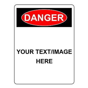 Danger Sign Personalized Aluminum Metal Customize With Text Or Picture