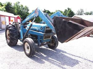 Used Ford 4600 Tractor With Loader Can Ship 1 85 Loaded Mile