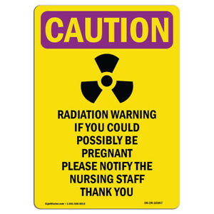 Osha Caution Radiation Sign Radiation Warning If You Could With Symbol