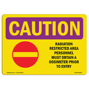 Osha Caution Radiation Sign Radiation Restricted Area Personnel With Symbol