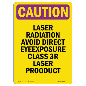 Osha Caution Radiation Sign Laser Radiation Avoid Direct Eye Exposure