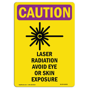 Osha Caution Radiation Sign Laser Radiation Avoid Eye Or With Symbol