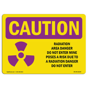 Osha Caution Radiation Sign Radiation Area Danger With Symbol made In The Usa